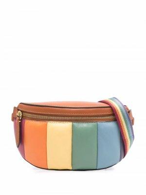 Rainbow-quilted Bethany belt bag Coach. Цвет: коричневый
