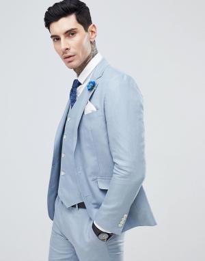 Однотонный пиджак узкого кроя Wedding-Синий Gianni Feraud