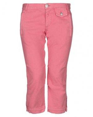 Джинсовые брюки-капри PINKO. Цвет: розовый