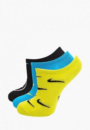 Носки 3 пары Nike Y NK EVRYDY LTWT NS 3PR NKDAY. Цвет: разноцветный