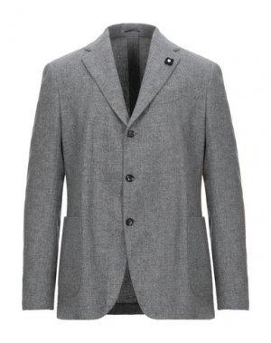Пиджак LARDINI. Цвет: светло-серый
