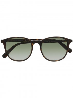 Солнцезащитные очки в оправе панто черепаховой расцветки Moncler Eyewear. Цвет: коричневый