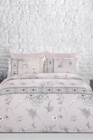 Постельное белье Евро 200X220 Arya home collection. Цвет: розовый