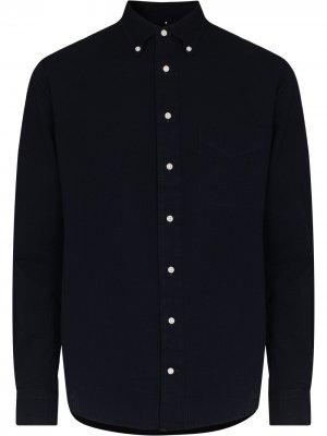 Рубашка из сирсакера на пуговицах Gitman Vintage. Цвет: синий