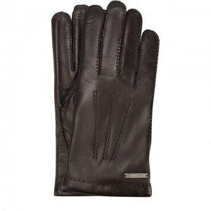 Кожаные перчатки Corneliani. Цвет: коричневый