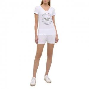 Хлопковая пижама Emporio Armani. Цвет: белый