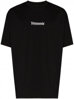 Ramstein Germany logo-print T-shirt Vetements. Цвет: черный