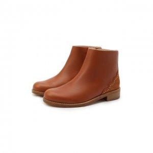Кожаные ботинки Chloé. Цвет: коричневый