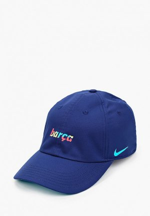 Бейсболка Nike FCB Y NK DRY H86 WDMK BLAUGDI. Цвет: синий