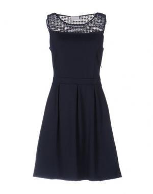 Короткое платье KAFFE. Цвет: темно-синий
