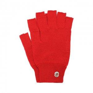 Шерстяные перчатки Rick Owens. Цвет: красный