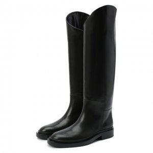 Кожаные сапоги Jil Sander. Цвет: чёрный
