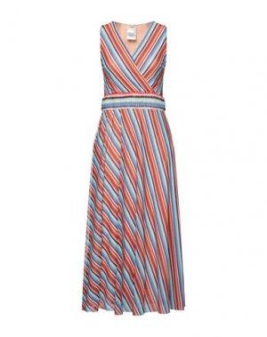 Платье длиной 3/4 FUZZI. Цвет: лазурный