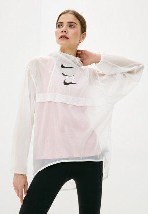 Ветровка Nike W NK RUN DVN PO PCKBL JKT. Цвет: белый