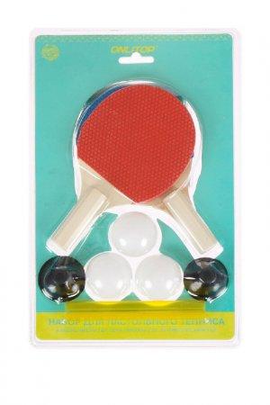 Набор для настольного тенниса ONLITOP. Цвет: красный, синий