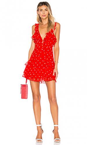 Платье-майка analisa For Love & Lemons. Цвет: красный