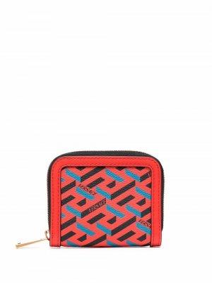 La Greca Signature modular wallet Versace. Цвет: красный
