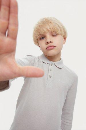 Верхняя сорочка для мальчика Finn-Flare. Цвет: светло-серый