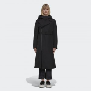 Тренч Y-3 CLASSIC DENSE by adidas. Цвет: черный