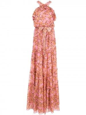 Платье макси Genevra с цветочным принтом Alexis. Цвет: розовый