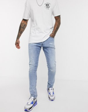 Светлые джинсы-морковки -Синий Diesel