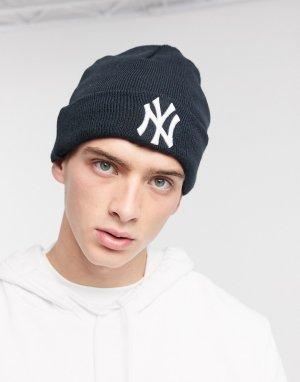 Черная шапка-бини MLB NY Yankees-Черный New Era