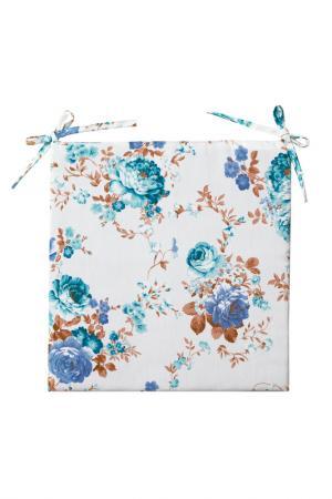 Сидушка декоративная 40х40 PIKAMO. Цвет: белый, голубой