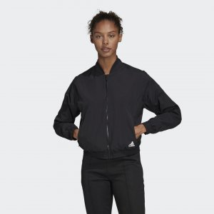 Куртка-бомбер Woven Athletics adidas. Цвет: черный