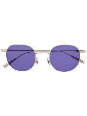 Солнцезащитные очки в круглой оправе AMBUSH. Цвет: 7237 серебристый purple