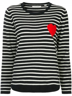 Striped heart sweater Chinti and Parker. Цвет: синий