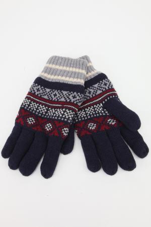 Перчатки Marks & Spencer. Цвет: темно-синий микс
