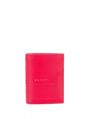 Бумажник с логотипом Marni. Цвет: красный