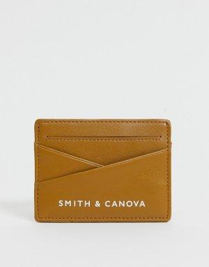 Кожаная кредитница Smith & Canova-Коричневый цвет And Canova