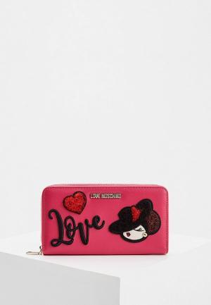 Кошелек Love Moschino. Цвет: розовый