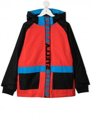 Лыжная куртка в стиле колор-блок Stella McCartney Kids. Цвет: красный