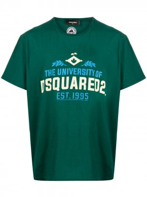 Футболка с логотипом Dsquared2. Цвет: зеленый