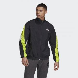 Куртка Woven Tape Athletics adidas. Цвет: черный