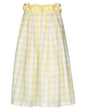 Юбка длиной 3/4 ATINSIGHT by ANDREA TURCHI. Цвет: светло-желтый