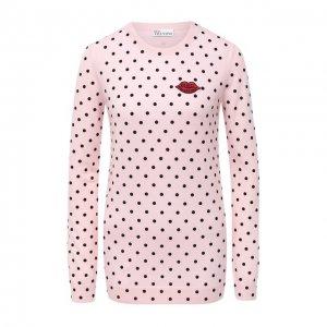 Шерстяной пуловер REDVALENTINO. Цвет: розовый