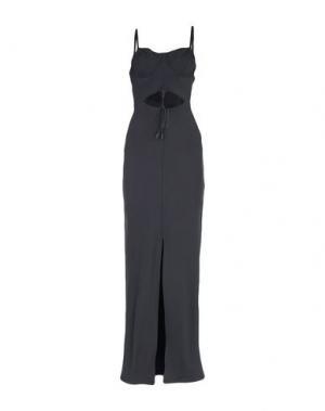 Длинное платье FENTY PUMA by RIHANNA. Цвет: черный