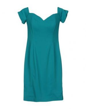 Короткое платье BADGLEY MISCHKA. Цвет: зеленый