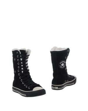Полусапоги и высокие ботинки CONVERSE. Цвет: черный