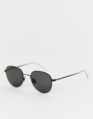 Черные круглые солнцезащитные очки Rio-Черный Monokel Eyewear