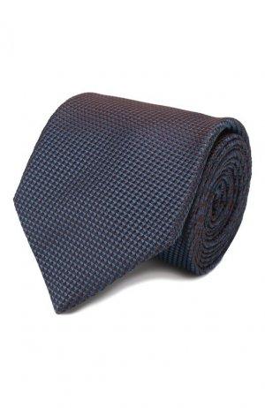 Шелковый галстук Brioni. Цвет: синий