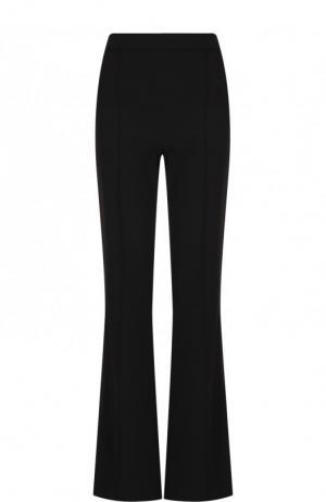 Однотонные расклешенные брюки на боковой молнии Alice + Olivia. Цвет: чёрный