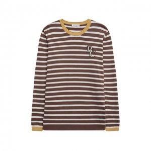 Хлопковый пуловер Brunello Cucinelli. Цвет: коричневый