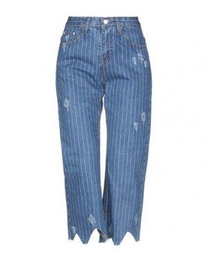 Джинсовые брюки-капри TPN. Цвет: синий