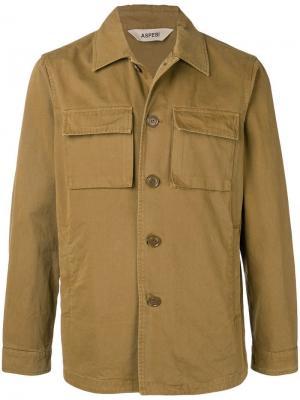 Куртка на пуговицах Aspesi. Цвет: коричневый