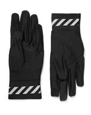Перчатки OFF-WHITE™. Цвет: черный