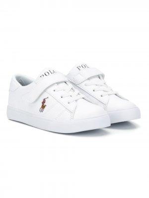 Low-top leather sneakers Ralph Lauren Kids. Цвет: белый